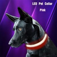 Custom Nylon Glowing Rechargeable Usb Safety Dog LED Collars Manufactures