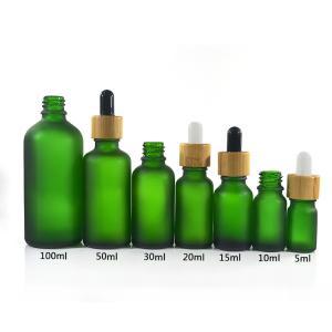 China Green Color Essential Oil Glass Bottles , 1 oz 2 oz 4 oz Boston Round Glass Bottles on sale