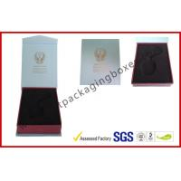 High Definition PMS Color Printed Hot Stamping Electronics Packaging With Soft Velvet PS Tray Manufactures