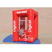 2x2m cube cash vault inflatable money booth for crazy cash grab advertisement activities