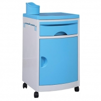 China Colorful Detachable Hospital Bedside Cabinet With Wheels on sale