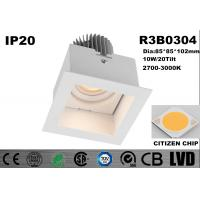 Square Warm White COB Commercial Led Downlights High Performance Waterproof IP20 Manufactures