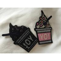 China Clothing Decoration Flower Iron On Patches , Beautiful Flower Embroidered Applique Patches on sale