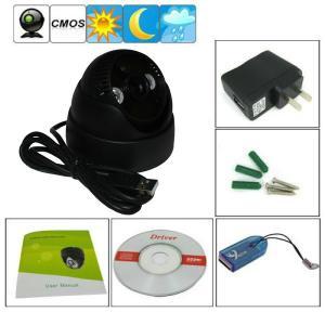 China K902 Double Lamp Array IR Night Vision Mini Dome 1/4 CMOS CCTV Surveillance TF DVR Camera on sale