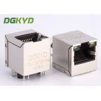 High Performance 180 degree top entry RJ45 jack with transformer cat 5 Manufactures