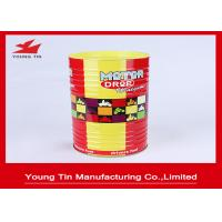 Quality Cylinder Round Food Cookie Gift Tins , CMYK Printed Outside Glossy Finished Biscuit Tin Box for sale