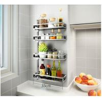 Adjustable Height Bathroom Storage Rack Plastic O - Ring For Keep Smooth Manufactures