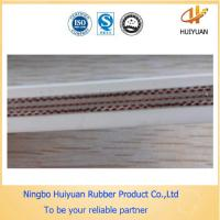 Foodstuff White Conveyor Rubber Belt used for conveying eating salt Manufactures