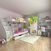E0 Grade Bunk Bed/Kids' Bedroom Set/Children's Furniture/Wooden Bedroom, Minnie, Disney/Ladder Chest Manufactures