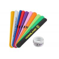 Promotional Silicone Slap Wristband High Durability For Outdoor Concerts Manufactures