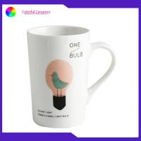 China Durable Promotional Ceramic Coffee Mugs Food Contact Safe 12 Oz With Decal on sale