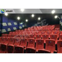New Design 4D Movie Theater Red Chairs Pneumatic System / Hydraulic System Manufactures