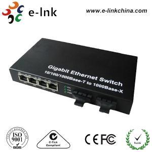 China Single Mode Gigabit Ethernet Switch With 2 Fiber Optic Ports / 4 Ethernet Ports on sale