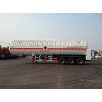 Double Layered Gas Tank Truck 56000L 3x13T FUWA Alxe Cryogenic LNG Tank Manufactures