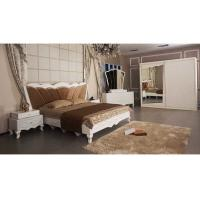 White Modern Classical Moslem Bedroom Sliding Wardrobes With Mirror E1 Standard Board Manufactures