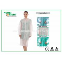 Protective Clothing PP Disposable Lab Coats For Women , Disposable Coveralls With Zip Manufactures