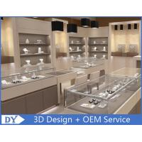 Fashion Jewelry Store Interior Showroom Display Cases MDF + Tempered  Glass Manufactures