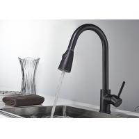 China Blacken Kitchen Sink Faucets , ROVATE Industrial Kitchen Faucet For Home on sale