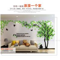 Quality Custom loving heart tree shaped home decorative acrylic wall stickers 3D for sale