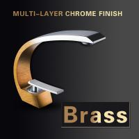 Brass Body Bathroom Basin Faucets , Chrome Plated Single Handle Bathtub Faucet Manufactures