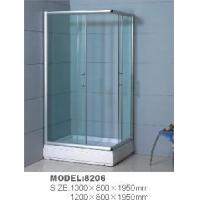 Rectangle ABS Tray Glass Wall Material Simple Shower Room, Shower Cubicle 8206 Manufactures