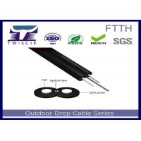 1-4 Core FTTH Drop Cable FRP / Steel Strength Member Covered Wire Cable Manufactures