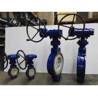 China WCB BODY Double Eccentric Butterfly Valve , Soft Seal Butterfly Valve RF FLANGE on sale
