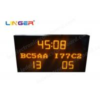 Multi Functional Led Electronic Scoreboard Football With Iron / Steel Frame Manufactures