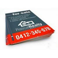 fade resistance rigid strong Corrugated Plastic Signs with Corona Treated Manufactures