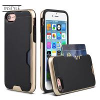 2018 New Armor Protective Phone Case With Credit Card Slot Holder for iPhone 8 case Manufactures