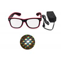 Buy cheap El Wire Glow Led DJ Bright Light Safety Light Up LED flashing Diffraction glasses from wholesalers