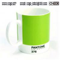 Export PANTONE colors fashion cup 376.numbers love for the ceramic mug Manufactures