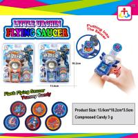 Flying saucer with compress candy with yummy candy Manufactures