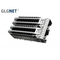 China Light Pipes Heat Sink Ganged SFP Cage 1 x 2 Ports 2.05 Mm Press Fit Pin on sale