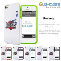 2014  Wholesale NBA Rocket  PC and TPU  Mobile Phone Case  for iPhone 5S Manufactures