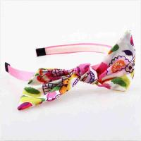 Hoop Toddler Girl Hair Accessories Hairband Fabric Material Eco - Friendly Manufactures