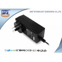Black 2 Prong 36W Switching Power Adaptor With 1.5m Cable , 84.78% Efficiency Manufactures