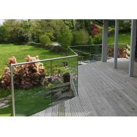 Security Aluminum Glass Railing Kits Stable Modern Design Multicolor Options Manufactures