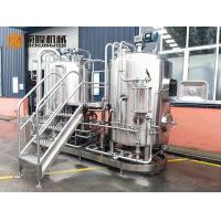 Semi Automatic Stainless Steel Beer Brewing Equipment , Micro Brewery Equipment Manufactures
