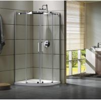 China Semi - Frameless Curved Glass Shower Door Enclosures For Bathroom 100 X 100 X 195 cm on sale
