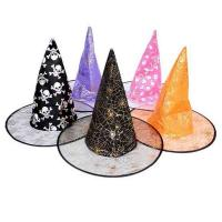China 38*35cm Childrens Halloween Decorations Custom Halloween Party Witch Hats on sale