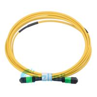China Round Type Single Mode Fiber Patch Cable , Optical Jumper Cord For High Density Wiring System on sale