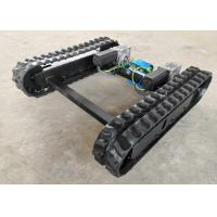 China Fast Speed Rubber Track Undercarriage System With Steel Sprocket Supporting Wheel on sale