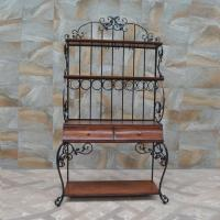 China Iron Art Furniture Customized for American Village design the Display Racks with wooden Drawers on sale