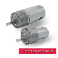 Quality 37mm Metal DC Motor Gearbox High Torque , 12 Volt 24v RS 380 / RS 555 DC Motor for sale