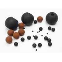 Heat Resistant FKM Solid Rubber Ball For Screen Cleaning / Air Restriction Manufactures