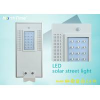 All in One Solar Panel Street Lights LED Luminaires with Lithium Battery / PIR Motion Sensor Manufactures