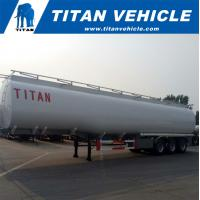 China 60,000 liters Fuel Tank Semi Trailer for Diesel/Petrol/Crude Oil Transporting on sale