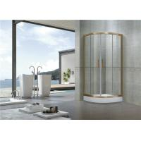 Sector Gold oxidated Shower Enclosures Full Aluminum Alloy CE Certification Glass Manufactures