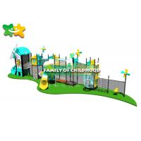 China Fun Outdoor Playhouse With Slide And Swing , Kids Outdoor Climbing Equipment Frames on sale